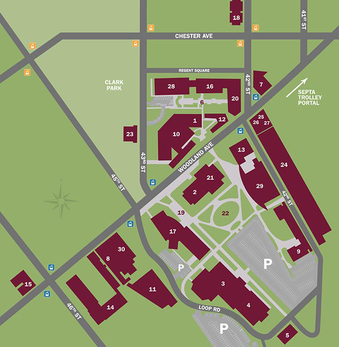 USciences campus map