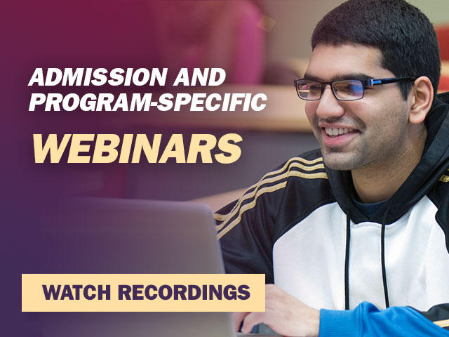 Admission and Program Specific Webinars
