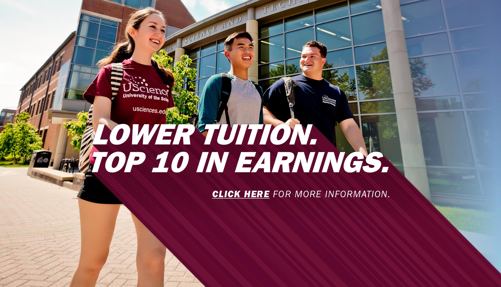 Lower Tuition. Top 10 in Earnings. Click here for more.